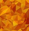 yellow orange honey polygonal triangular pattern vector image