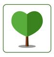 Heart tree icon vector image