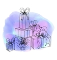 Christmas gifts Birthday gift Abstract vector image