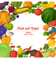 colorful fruits and vegetables background vector image