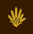 logo and symbol of wheat for thanksgiving day vector image