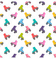 seamless pattern with roller skates vector image