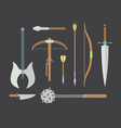 set of different medieval weapons flat vector image