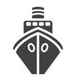 ship glyph icon transport and boat travel sign vector image