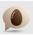 Chiken egg sign Brown gradient icon on bubble vector image
