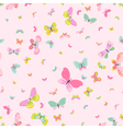 Colorful Seamless Background with Butterflies vector image vector image
