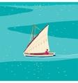 Fisherman sailboat vector image