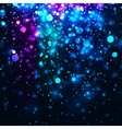 rainbow glowing light glitter background vector image