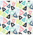 modern seamless pattern with brush painted shapes vector image vector image