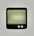 Square retro TV icon vector image vector image