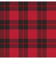 Red tartan plaid vector image