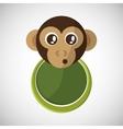 Animal design monkey icon Isolated vector image