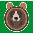 Brown Bear Head vector image