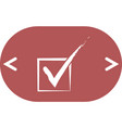 flat paper cut style icon of check box vector image