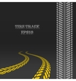 Tire track with perspective and template for tire vector image