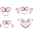 vintage heart symbols vector image