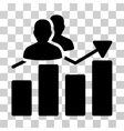 Audience Graph Icon vector image