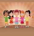 group girls player sport vector image