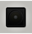 Square speaker icon vector image vector image