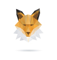Fox head abstract isolated vector image