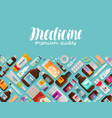 medicine pharmacy pharmacology banner vector image