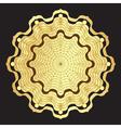 Gold round elegance frame vector image vector image