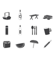 Picnic and holiday icons vector image