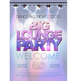 Disco background Big lounge party poster vector image