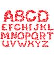 Alphabet - blots letters vector image