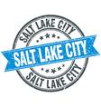 Salt Lake City blue round grunge vintage ribbon vector image