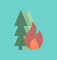 flat icon on stylish background forest fire vector image