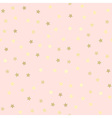 Golden glitter seamless pattern pink background vector image