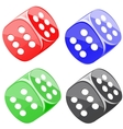 Lucky dices many color set vector image