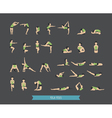 Set of yoga poses vector image