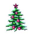 sketch of symbol christmas vector image