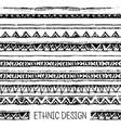 Tribal ethnic seamless Black and white colors vector image