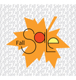 Fall Sale Background vector image vector image