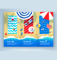 summer vacation tri-fold brochure design vector image