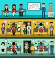 People in the style flat design vector image vector image