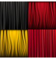 silk curtains vector image