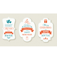 Set Christmas New Years labels vector image