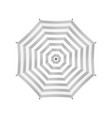 White Umbrella With Gray Stripes Top View vector image vector image