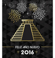 New Year 2016 mexico chichen itza travel gold vector image