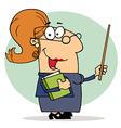 Happy Professor Woman vector image vector image