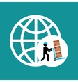 transportation delivery service box warehouse vector image
