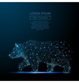 Bear low poly wireframe blue vector image