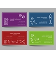 Business card with sewing doodles design vector image