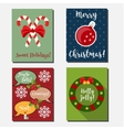 Christmas New year holidays vertical vector image