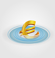 Euro Ripple Currency vector image