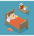Happy to sleep Sleeping boy vector image